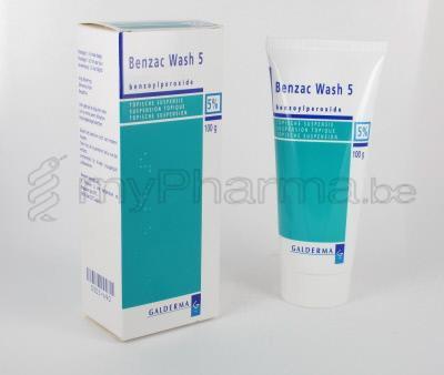 Pharmacie Dansaert 1000 Bruxelles : BENZAC WASH 5% 100 G SUSP